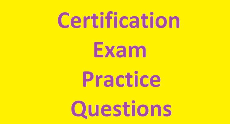 SAP Certification Exam Practice Questions